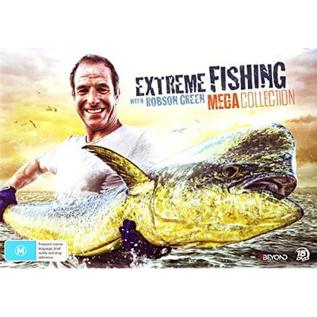 Extreme Fishing with Robson Green (Mega Collection) - 15-DVD Box Set ( Extreme Fishing with Robson Green (59 Episodes) ) [ NON-USA FORMAT, PAL, Reg.4 Import - Australia (59 Dark Green)