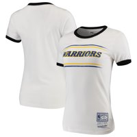 Golden State Warriors Mitchell & Ness Women's Ringer T-Shirt - White