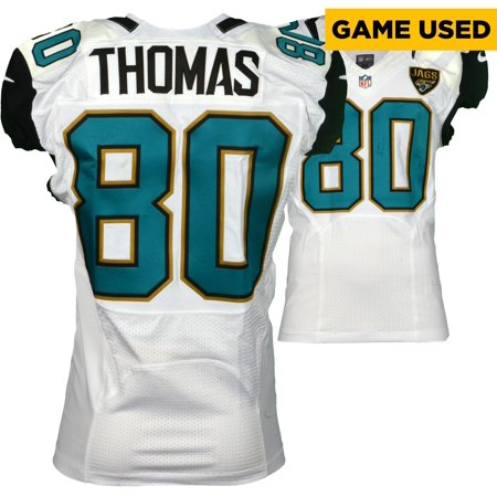 official photos 76ab1 30fe3 Julius Thomas Jacksonville Jaguars Game-Used #80 White Jersey vs. Kansas  City Chiefs on November 6, 2016 - Fanatics Authentic Certified