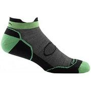 Darn Tough Vermont Merino Wool Double Cross No Show Tab Light Cushion Sock - Men's Black X-Large