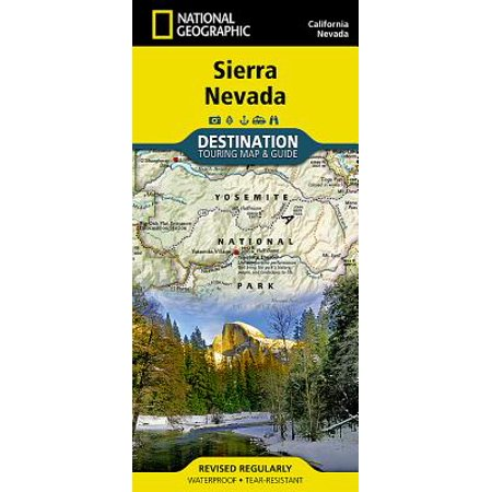 - Sierra nevada, california and nevada destination guide map: 9781597754491