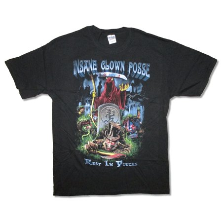 Insane Clown Posse Rest In Pieces Juggalo Black T Shirt ICP - Juggalo Halloween