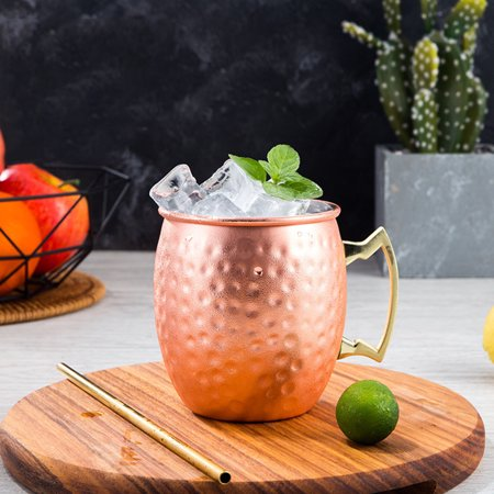 Moscow Mule Mug 530ml 18oz Stainless Steel Copper Plated Drinking Coffee Drinkware Cup Bar Home Party Drinking Cup Gifts 4pcs of 20% off