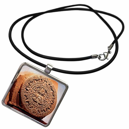 3dRose Mexico City, Sun stone called Aztec calendar - SA13 MGL0000 - Miva Stock - Necklace with Pendant (ncl_86737_1)