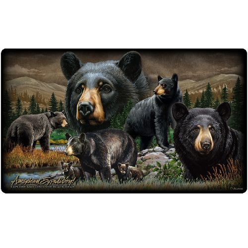 American Expedition Cutting Board - Black Bear Collage