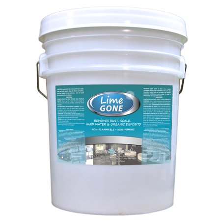 Lime-Gone - Removes lime, scale, rust & hard water deposits - 5 gallon