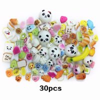 Akoyovwerve 30PCS Squishy Soft Stress Reliever Toy Set for Kid Adult Artificial Bread Panda Slow Rebound Toy Children Christmas Gifts