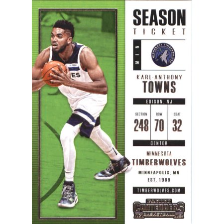 2017 18 Panini Contenders Season Ticket 89 Karl Anthony Towns