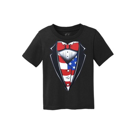 Toddlers USA Stars and Stripes Tuxedo Short-Sleeve T-Shirt - Chucky Striped Shirt For Toddler