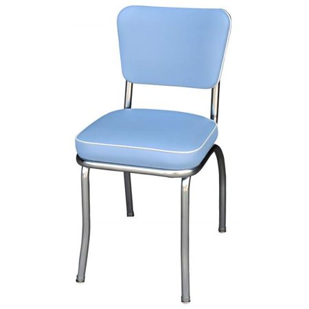 Richardson Seating Corp 4210BBL 4210 Diner Chair -Bristol Blue- with 2 in. Box Seat -  Chrome - Bristol - Richardson Diner Chair