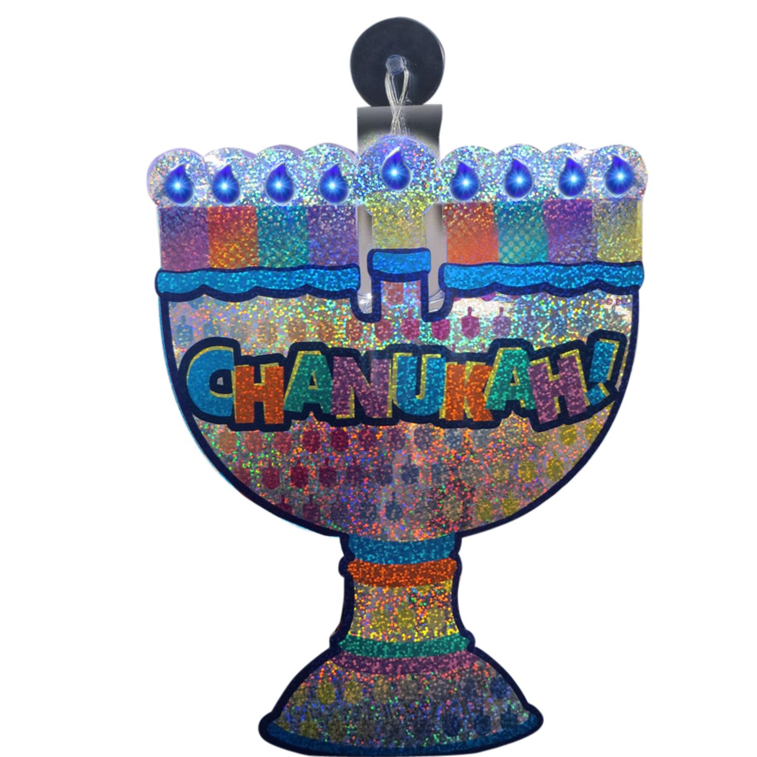 10 Quot Battery Operated Shiny Led Lighted Quot Chanukah Quot Menorah
