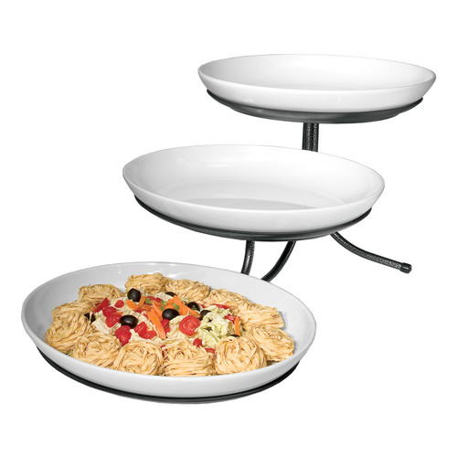 CAL-MIL Sierra 3 Tier Stand with Oval Platters
