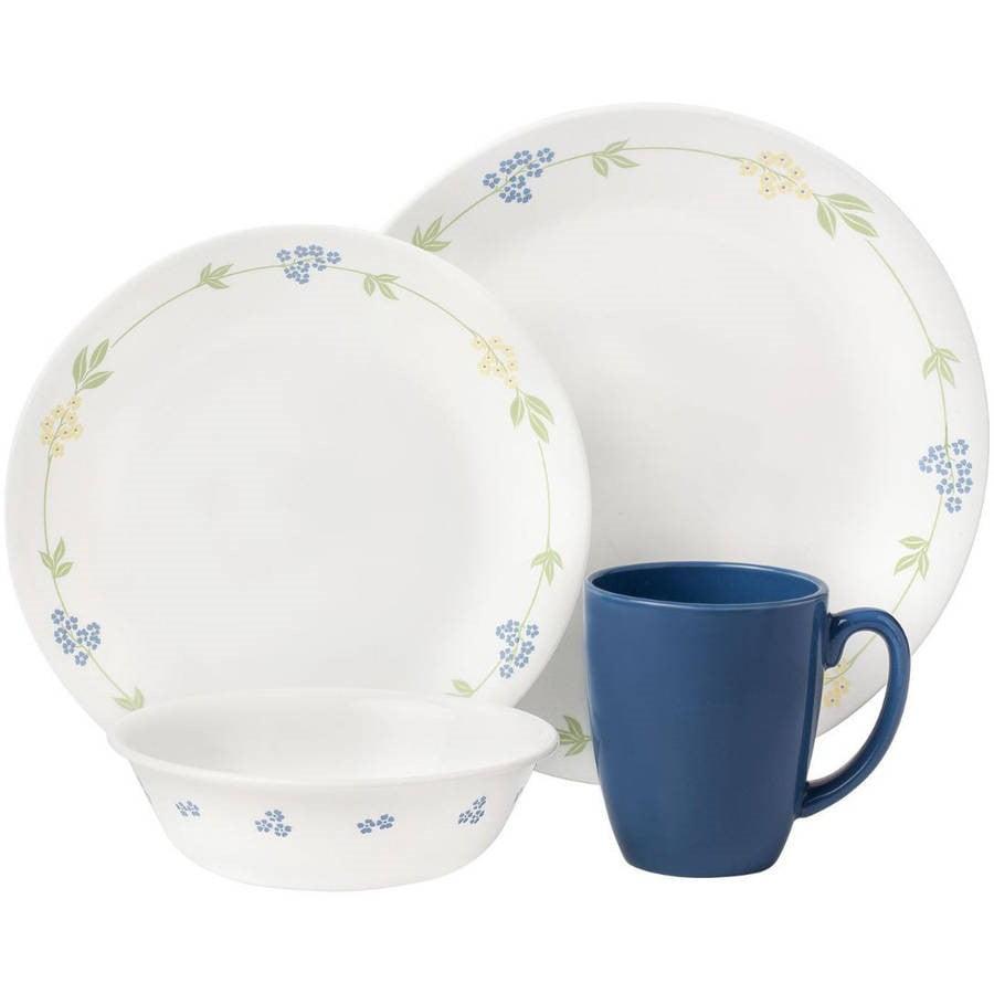 Corelle Dinnerware Sets Livingware Secret Garden 16-Piece Vitrelle Dinnerware Set 1060011