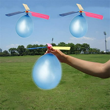 Balloon Helicopters Set (Pack of 12) | Approximately 9"