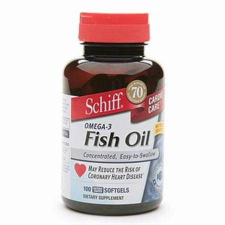 Schiff omega 3 fish oil 100 caps pack of 4 for Omega 3 fish oil walmart