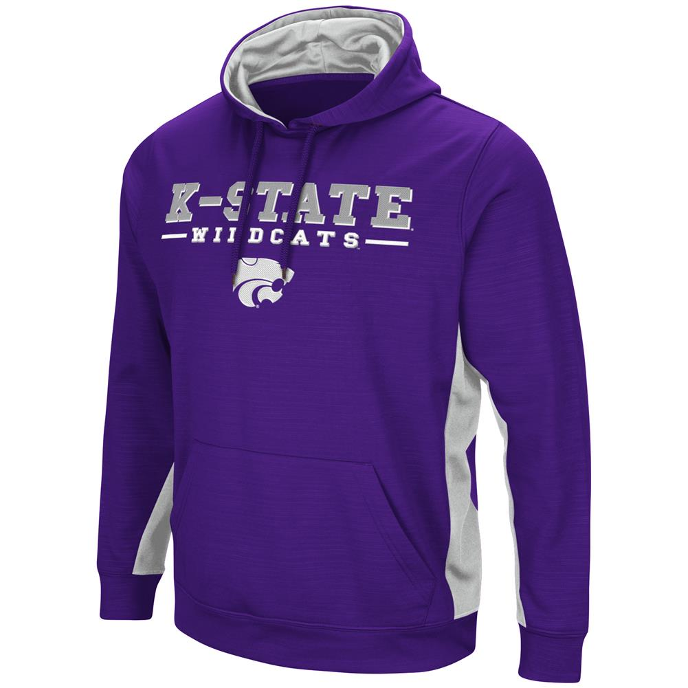 Kansas State University Hoodie Performance Fleece Pullover Jacket by Colosseum