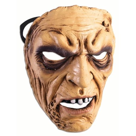 Frontal Mask Angry Man Adult Costume Accessory Halloween Party One Size