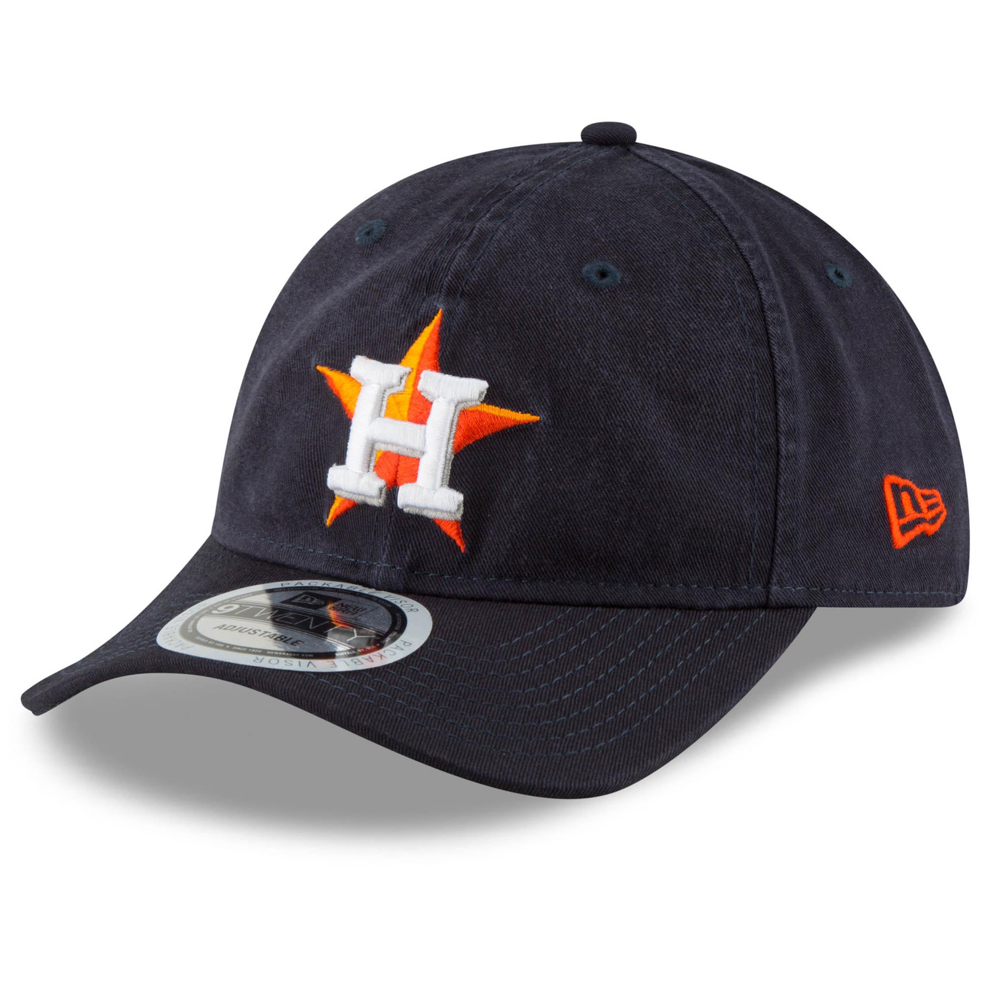 Houston Astros New Era Packable Core Classic 9TWENTY Adjustable Hat - Navy - OSFA