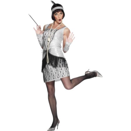 Women's 1920s Silver Flapper (20's Dresses Costumes)