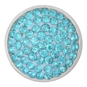 73809 Charm-Nugz Snap On-Aqua Crystal