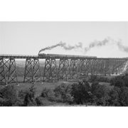 Buy Enlarge 0-587-46195-LP20x30 Steam Train passes over Valley Trestle Bridge- Paper Size P20x30