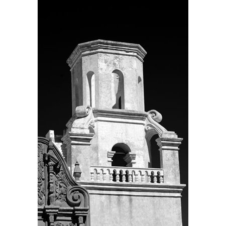 Unfinished Bell Tower Bw  Fine Art Photograph By  Douglas Taylor  One 24X36in Fine Art Paper Giclee Print