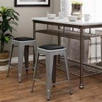 Amisco Ryan Metal And Wood Counter Stool Walmart Com