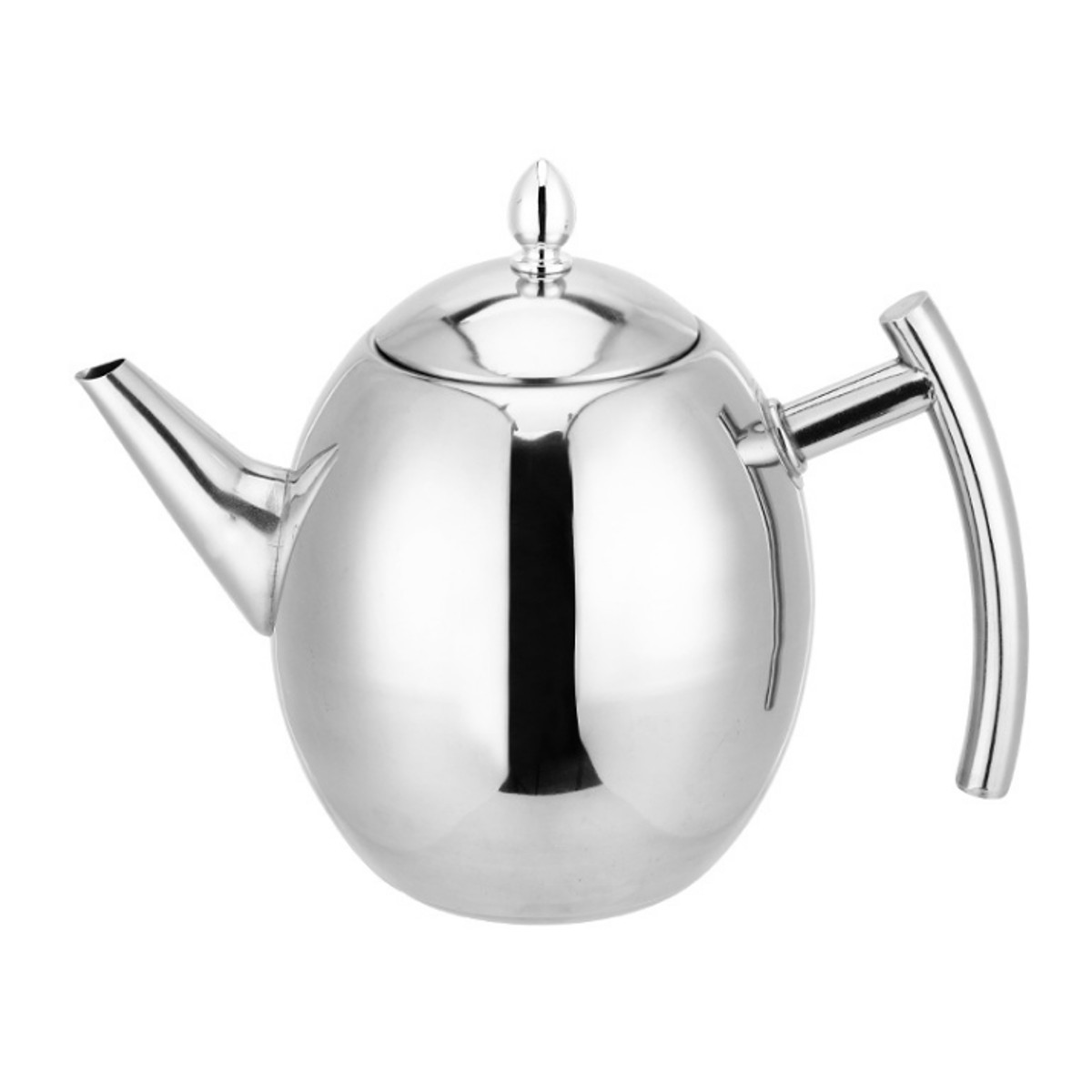 Boxed Black Retro Tea Pot Stainless Steel Teapot 1.5 Litre With Infuser