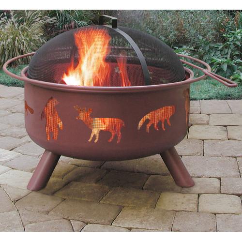 Landmann Big Sky Wildlife Steel Wood Burning Fire pit