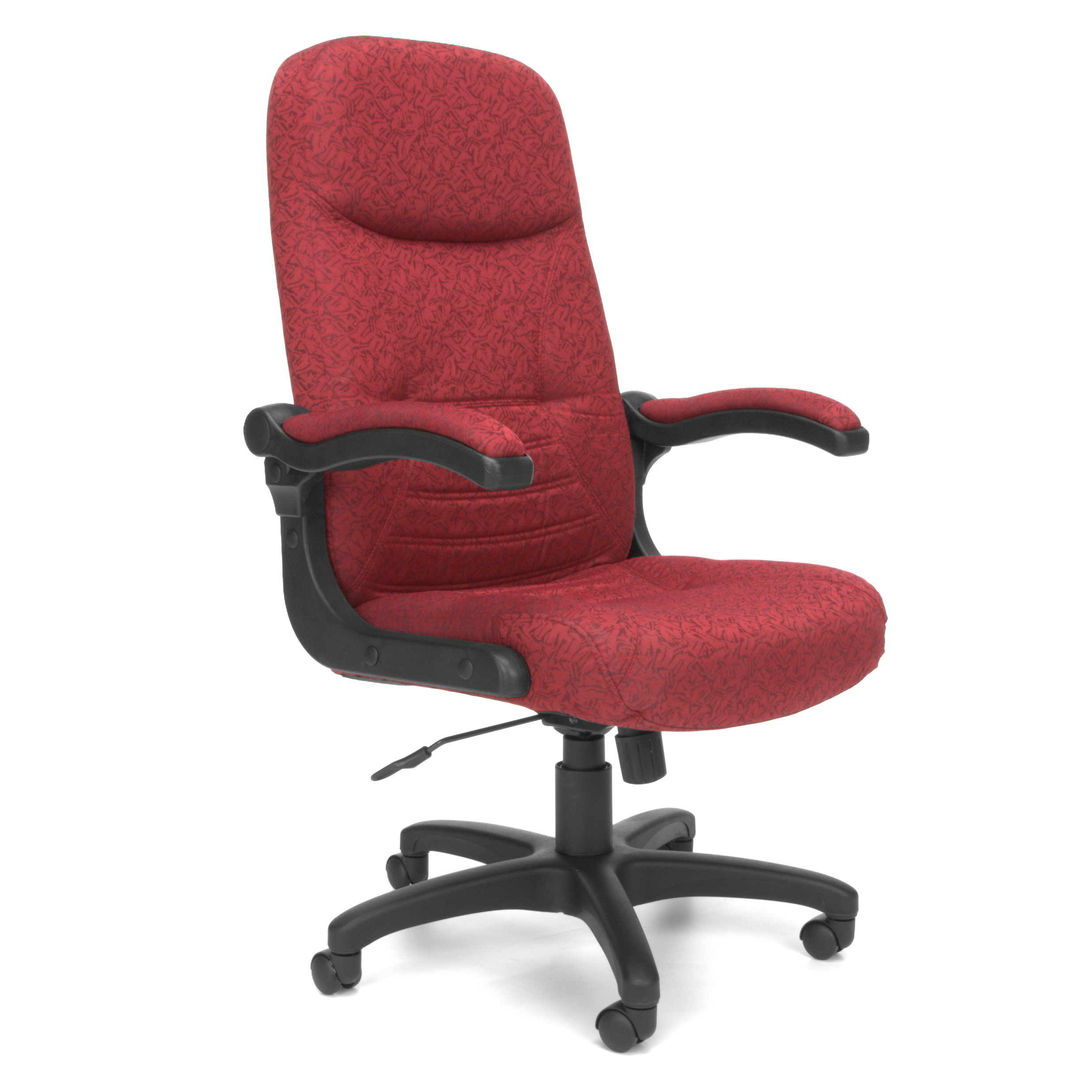 OFM Stimulus Series Model 522-LX Leatherette Executive High-Back Chair with Fixed Arms, Black