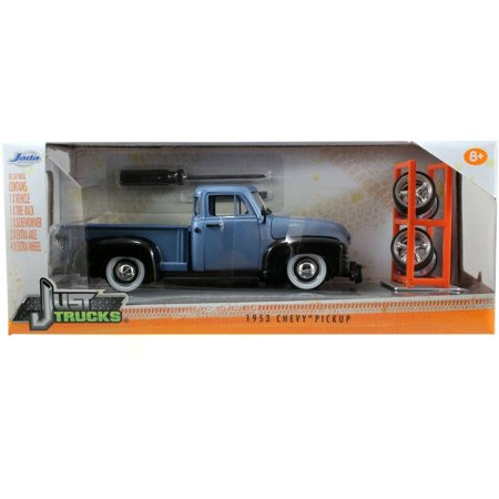 Just Trucks 1:24 Diecast W11 1953 Chevy 3100 Pick-Up, Primer Blue 1953 Chevy Truck Parts