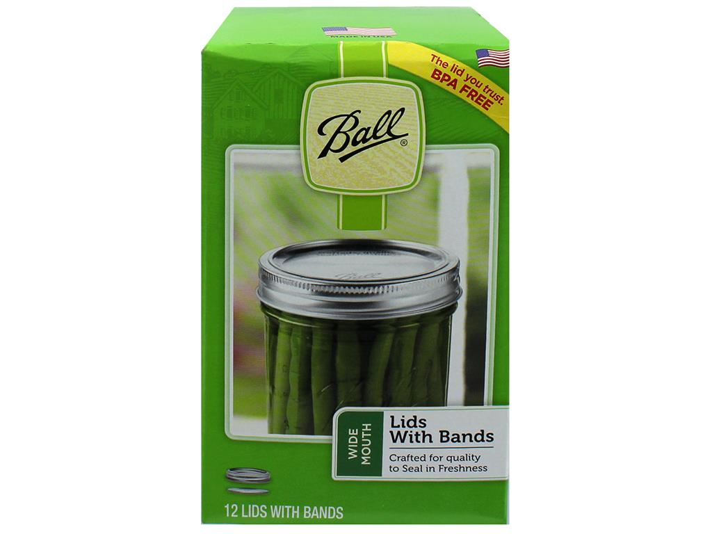 12-Pack 36400 Silver Leifheit Classic Wide Mouth Canning Lids