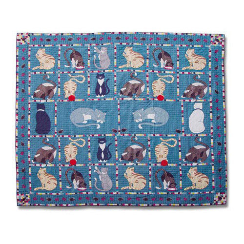 Patch Magic Kitty Cats Full / Queen Quilt