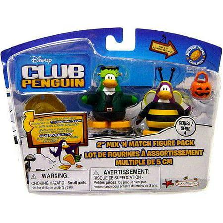 Club Penguin Mix 'N Match Series 1 Bumble Bee & Frankenpenguin Mini Figure Set Robot Heroes Bumble Bee