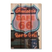 Day Dream HQ CS1624 16 x 24 in. Cafe - 66 Inside & Outside Cedar Wall Art