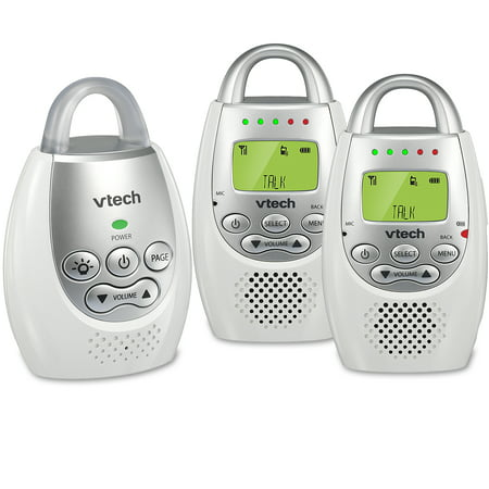 VTech DM221-2 Safe & Sound ® DECT 6.0 Two Parent Unit Digital Audio Baby (Vtech Audio Baby Monitor With 2 Parent Units)