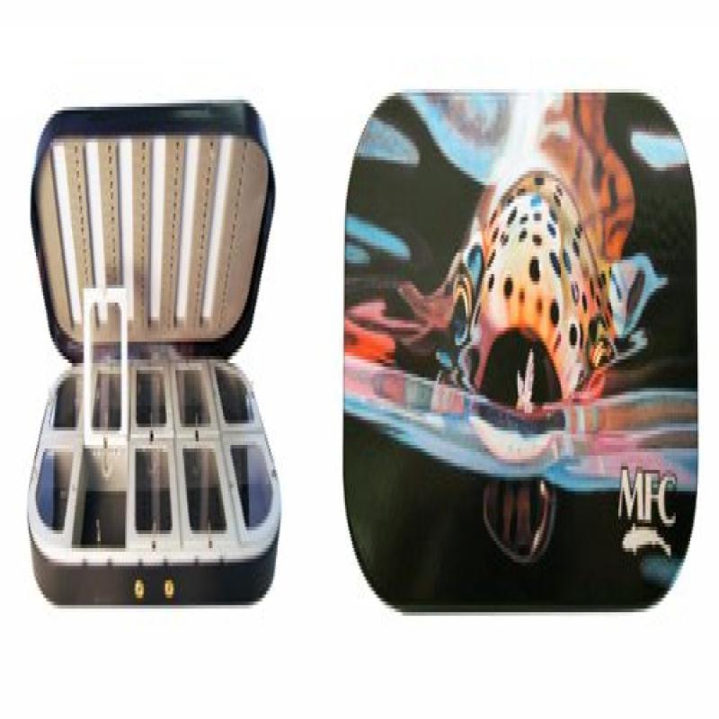 MFC Aluminum Fly Box - Maddox' Snack - Rainbow Trout