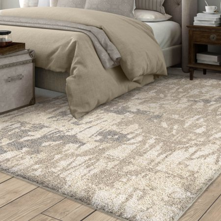 Orian Rugs Super Shag Abstract Canopy Ivory Area Rug