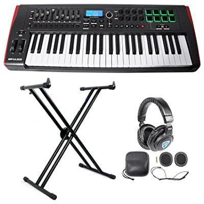 Novation IMPULSE 49-Key Ableton Live USB Keyboard Controller+Stand+Headphones by Novation