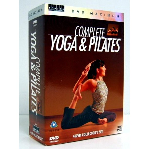 Complete Yoga & Pilates 4 DVD Video Training Workout Set