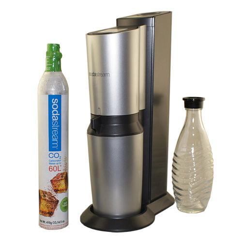SodaStream Power Metal Sparkling Water Maker Starter Kit Black