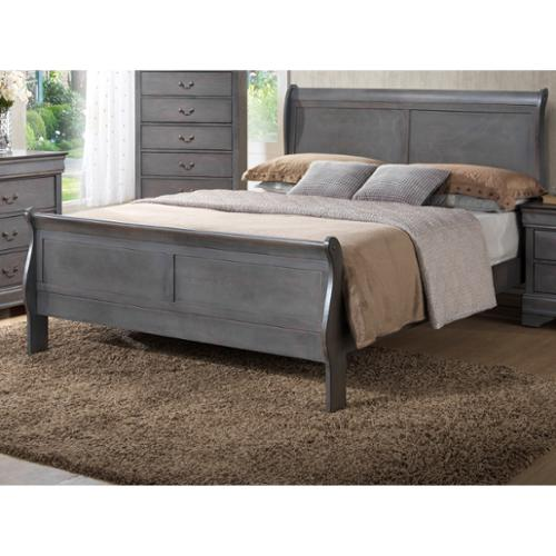 LYKE Home Louis Philippe Grey King Bed