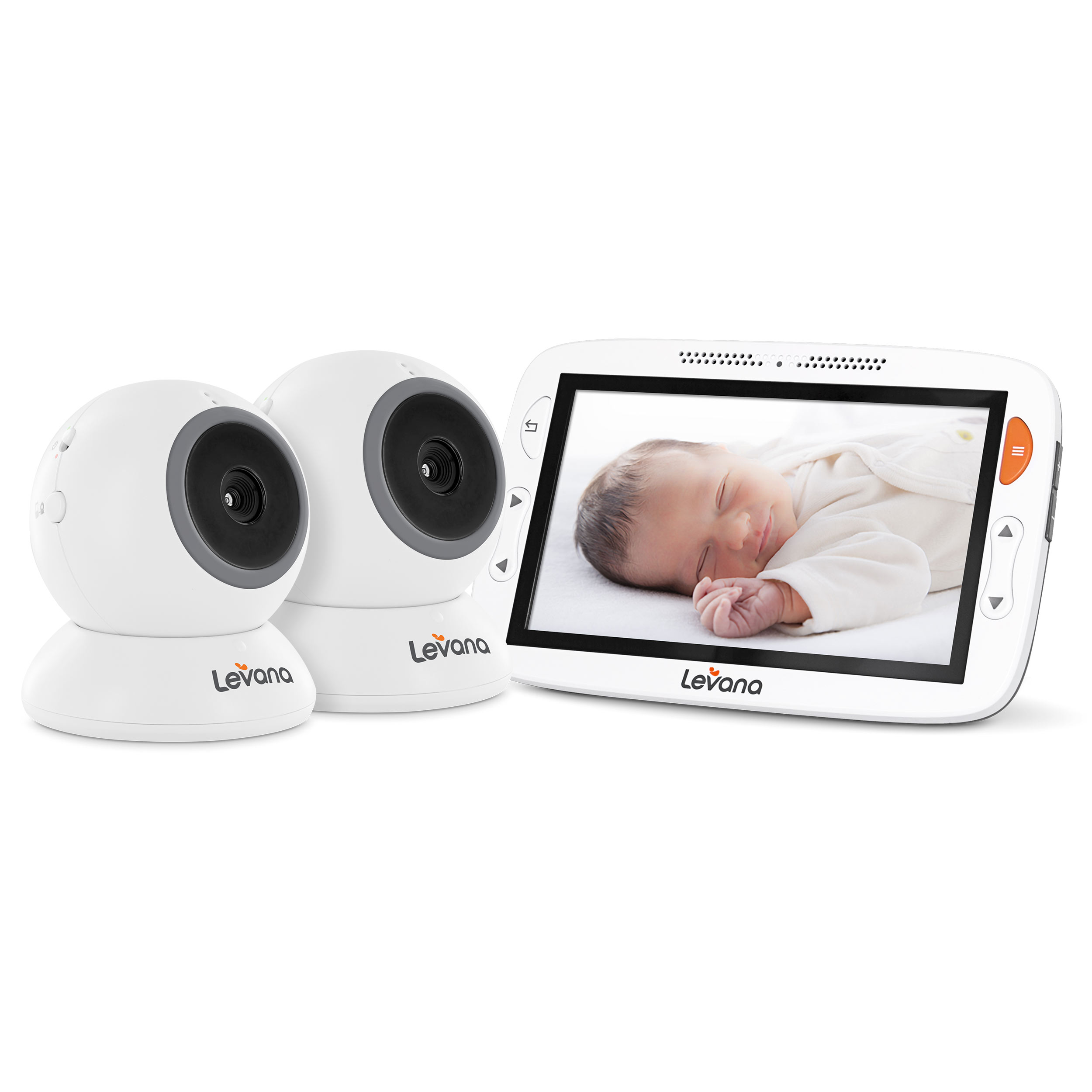 Levana Alexa 5� LCD Video Baby Monitor with Two Cameras, 12 Hour Battery Life, Temperature Monitoring, Feeding... by Levana