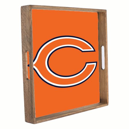 Chicago Bears 16'' x 16'' Wood Tailgate Tray - No Size