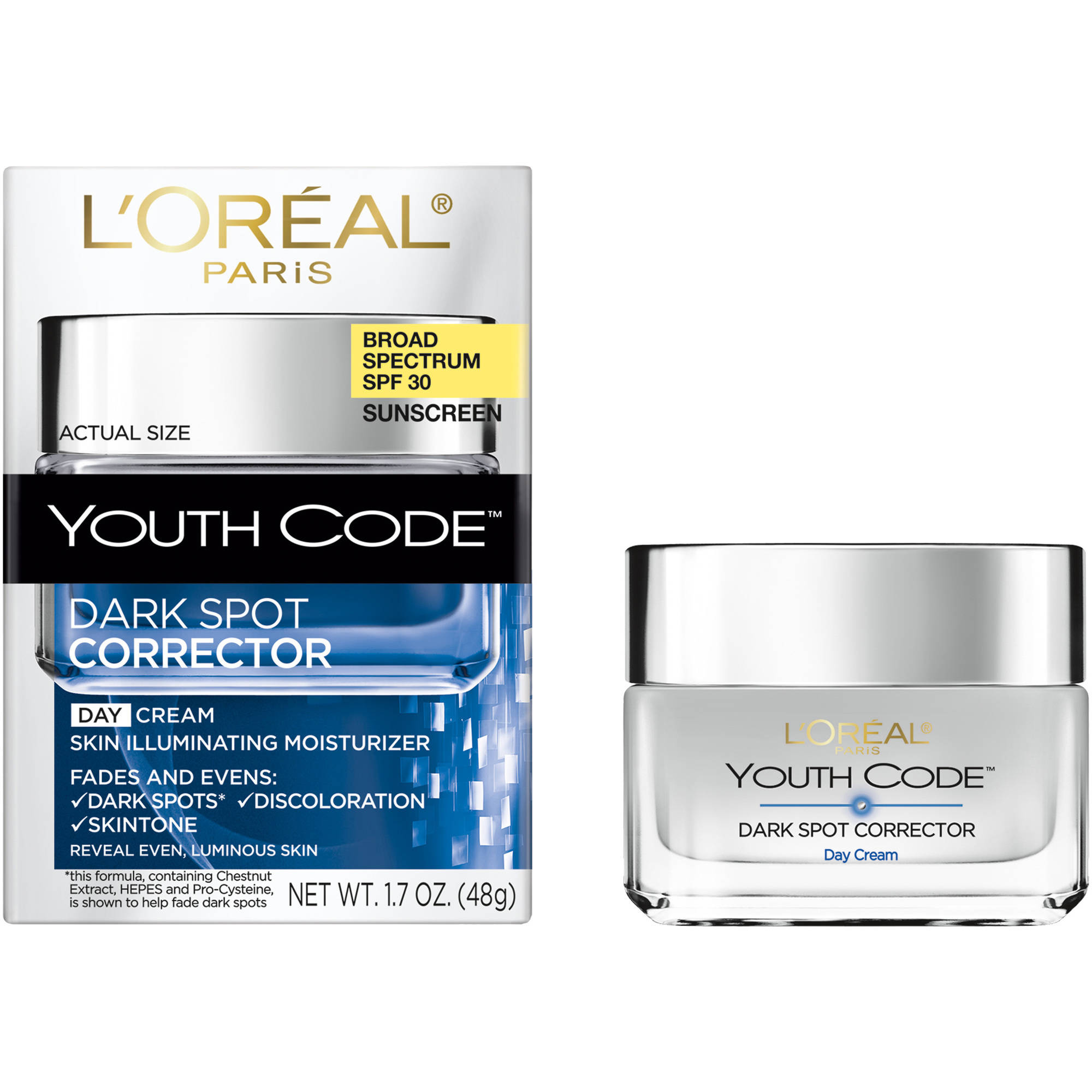 L'Oreal Paris Youth Code Dark Spot SPF 30 Day Cream Moisturizer, 1.6 oz