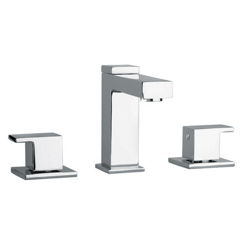 Jewel Faucets J12 Bath Series Two Lever Handle Widespread Bathroom Faucet with Linear Matched Spout