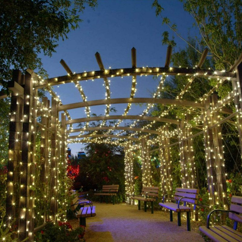 Details about  /12M//17M 100 LED Solar String Fairy Lights Outdoor Garden Lawn Xmas Party Lamp