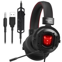 Gaming Headset, ONIKUMA K3 Gaming Headset for PS4 PC New Xbox One, Stereo Over-ear Headphones & Noise-canceling Microphone with Mic for PC Computer Mac Loptap Nintendo Switch Games