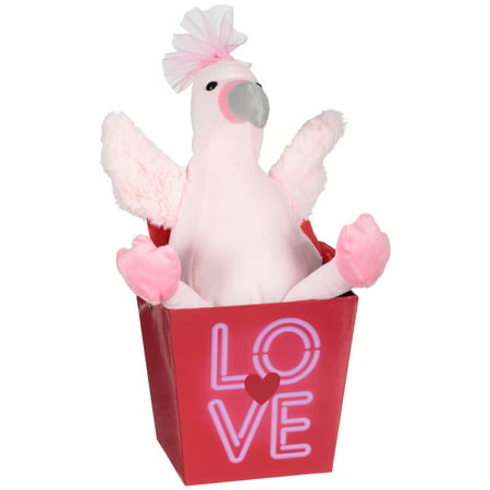 Valentine's day stuffed pink flamingo with gift (Valentine's Day Fundraiser)