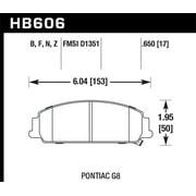 Hawk 08-09 Pontiac G8 3.6 Base/6.0 Performance Ceramic Street Front Brake Pads